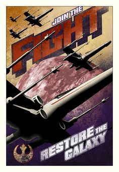 Star Wars Propaganda - Comply & Join The Fight Canvas and paper editions, available May 4th 2014. Created by Mike Kungl