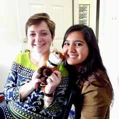 Two of our #SweetBriar #AdmissionsAmbassadors with #AdmissionsVixen Rose! — with Ashlynn Ann Watson and Mayalin Quiñones.