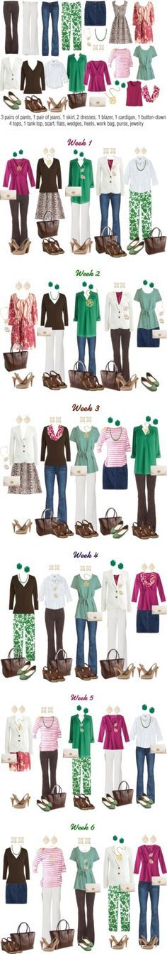 Emerald & Raspberry Work Capsule Wardrobe by kristin727 on Polyvore featuring Emilio Pucci, Paige Denim, J.Crew, Mata Traders, ESCADA, Nine West, Coach, Bea & Dot, Kendra Scott and Gap