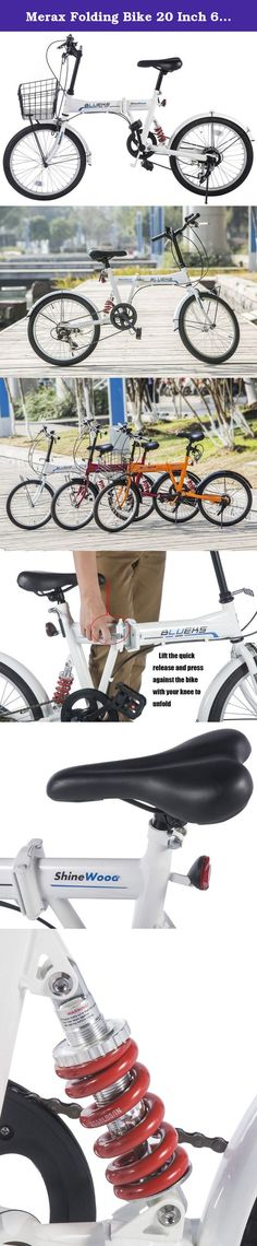 Merax Folding Bike 20 Inch 6 Speed Fashionable Rear Suspension Shimano Shifter (White). Our 20-Inch Merax Folding Bike is easy to fold up and put back together, great for apartment living! This folding bike is compact, but just as sturdy as a regular bike. Professional Presta Valve Foldable Pedals Net weight: 36.5 pounds Shipping weight: 43 pounds Notice A Presta valve is generally used with inner tubes for road bikes and other bicycles that require very high air pressure. Presta valves...