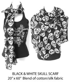 ICJUK Special offer ~ #FREE Gift ~ Rock & Roll #Skull Scarf with purchase of 2 shirts/tanks! | Inspired By Claire Jane