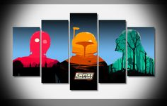 Own this amazing Star Wars Empire Strikes Back wall canvas today we will ship the canvas for free. This is the perfect centerpiece for your home. It is easy to assemble and hang the panels together which makes this a great gift for your loved ones. This painting is printed not handpainted and is ready to hang! We have 2 options for this canvas -- Size 1: (20x35cmx2pcs, 20x45cmx2pcs, 20x55cmx1pc) Size 2: (30x50cmx2pcs, 30x70cmx2pcs, 30x80cmx1pc) Limited quantities left. www.octotreasures.com