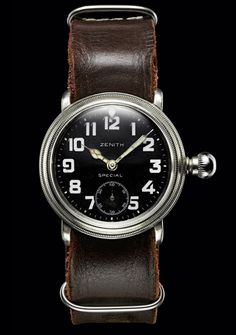 3448491df3b Zenith - Early 20th century aviator wristwatch that belonged to Louis  Blériot Relógios Masculinos