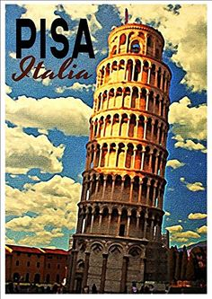 'Pisa - Italy' - A4 Glossy Art Print Taken From A Rare Vintage Travel Poster by Vintage Travel Posters http://www.amazon.co.uk/dp/B01BK3WZXU/ref=cm_sw_r_pi_dp_QDaUwb0SJGD1X