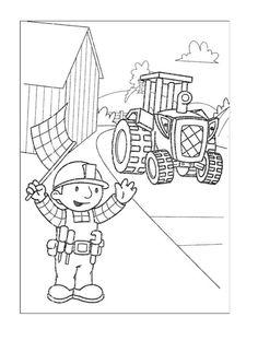 Byggmester Bob Fargelegging for barn. Tegninger for utskrift og fargelegging nº 38