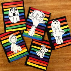 😍Kindergarten Self Portraits! ❤️🧡💛💚💙💜 These served as a little diagnostic assessment, cutting-fine motor skills- check, and color lesson!