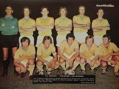 F.C NANTES 1971-72. Fc Nantes, Vintage Football, Football Kits, Club, Michel, Baseball Cards, Sports, Forever, Country