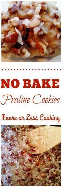 No Bake Praline Cookies