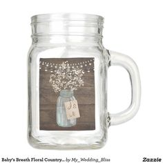 Baby's Breath Floral Country Mason Jar Wedding Beautiful custom wedding design featuring a country flower and mason jar. Perfect for that rustic wedding. You can customize and personalize it any way you wish.