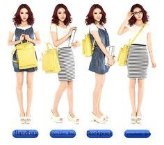New Candy-colored Leather Multifunction Backpack & Handbag & Shoulder Bag - lilyby