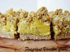 Raw Pina Colada Crumble Bars from Fragrant Vanilla Cake