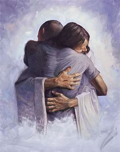 The Hug by Chris Hopkins.  I don't think Christian painter should paint Jesus all the time. But when they do it feels awesome.