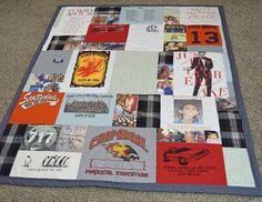 Tee shirt quilt from JellyBeanQuilts.com