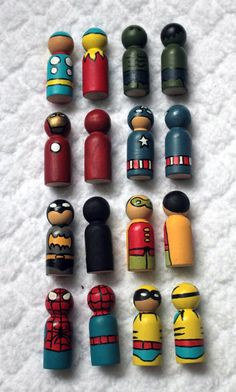 BANG! KAPOW! Super Hero Pegs! - TOYS, DOLLS AND PLAYTHINGS