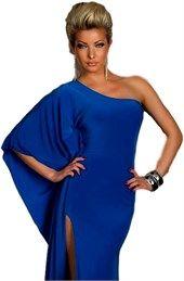 5822 QN Ιδιαίτερο μάξι φόρεμα με έναν ώμο