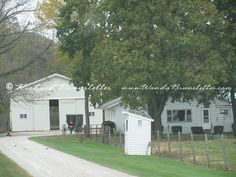 Here's an Amish home near Goshen, Indiana.
