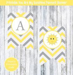 Yellow & Grey You Are My Sunshine Baby by SmatsPrintableCafe
