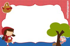 convite chapeuzinho vermelho imprimir grátis