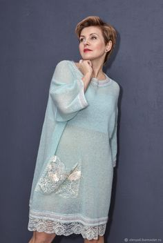 Summer Knitting, Mohair Sweater, Russian Fashion, Vogue Fashion, Runway Models, Knitting Patterns Free, Refashion, Dress Patterns, Knit Dress