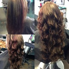 Before and after socap keratin fusion extensions