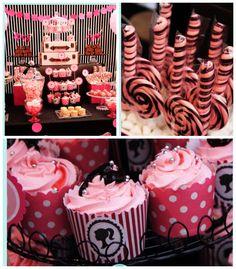 Barbie themed birthday party via Kara's Party Ideas KarasPartyIdeas.com Cake, decor, cupcakes, favors, games, and more! #barbieparty (2)