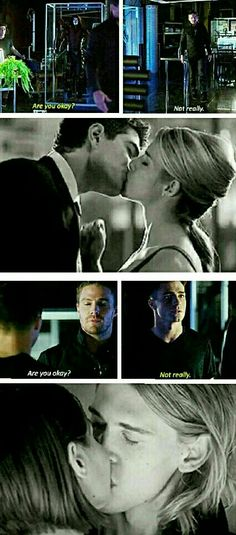 Are you okay? Not really. #Oliver/Felicity Thea/Roy
