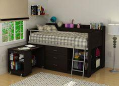 Amazon.com: Rack Furniture Clairmont Loft Bed,Espresso: Home & Kitchen