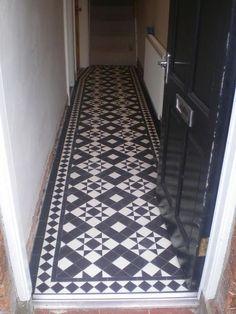 Entry Hallway Floor Hallway Tile Ideas Hall With Narrow Hallway Tiled Floor Narrow Hallway Home Entryway Decor Victorian Hallway Tiles, Victorian Stairs, Tiled Hallway, Entry Hallway, Hallway Ideas, Small Entryways, Small Hallways, Stair Decor, Entryway Decor