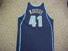 Kosta Koufos Utah Jazz 2008-09 Game Worn Road Jersey w/ LHM Patch