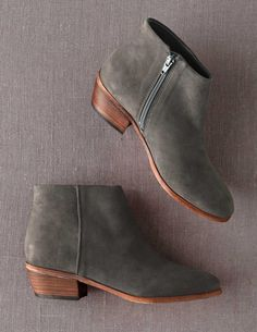 Green Suede Booties