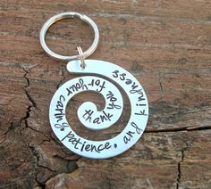 Personalized Hand Stamped Thank you gift Teacher Thank You, Thank You Gifts, Teacher Gifts, Babysitter Gifts, Nanny Gifts, Hospice Nurse, Keepsake Crafts, Godparent Gifts, Retirement Gifts