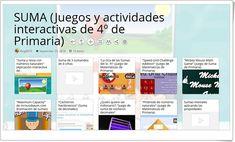 """""""13 Juegos y actividades interactivas para la práctica de la SUMA en 4º de Primaria"""""""