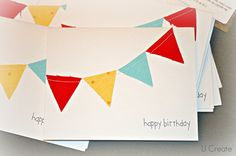 Happy Birthday Card - great way to use up your tiny scraps, too!