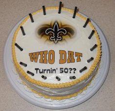 New Orleans Saints birthday cake.
