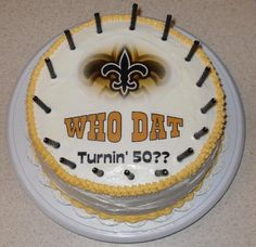 New Orleans Saints birthday cake.