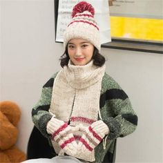1aa343d16fa 23 Awesome Best womens hat scarf and glove set for winter images ...