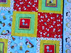 Handmade Quilted Quilt Peanuts with Snoopy and by OneOakQuilts, $120.00