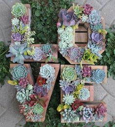 DIY Monogram Letter Vertical Garden