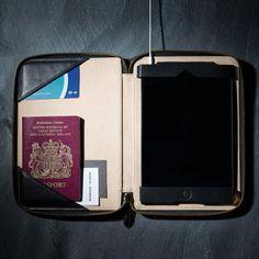 Fancy - Black iPad Mini 1&2 Zip Folio