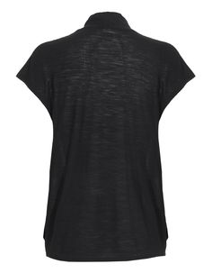 AMERICAN VINTAGE Point Loma Short Black Draped wool blend top - Tops