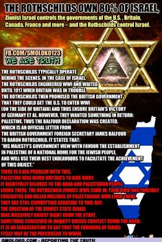 How the Rothschilds created Israel - Eustace Mullins. 50 MIN. VIDEO @ http://www.youtube.com/watch?v=mUms50htsuM&feature=youtu.be