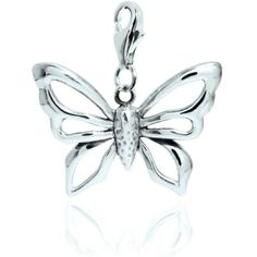 Chrysalis Silver Large Admiral Butterfly Clip Charm CRC0212