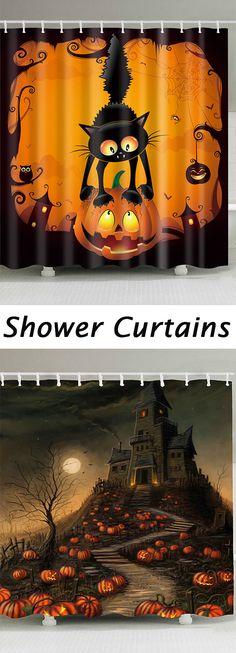 home decor ideas:Halloween Shower Curtain