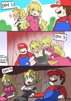 Bowsette Meme – or break up between Mario and Princess Super Mario Memes, Super Mario Bros Games, Super Smash Bros, Cute Comics, Funny Comics, Disney Pixar, Mario Comics, Nintendo, Spiderman