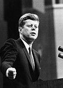 1960s Portraits Framed Prints - John F. Kennedy, Urges The Senate Framed Print by Everett