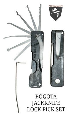 Bogota Jackknife Folding Lock Pick Set