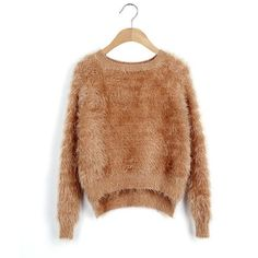 Free Shipping 9 Colors Crew Neck Warm Winter Women Sweater Long Sleeve Solid Color Hairy Mohair Sweaters And Pullovers S1884