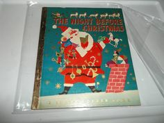 THE NIGHT BEFORE CHRISTMAS Corinne Malvern Little Golden Book Hardcover D Print