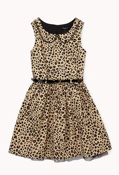 Safari Princess Dress w/ Belt (Kids) | FOREVER21 girls - 2079272962