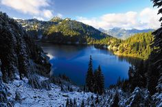 Despite the campsites and old cabin ruins just off the trail, not to mention the throng of hikers, there remains some untamed charm at Snow Lake, one of Snoqualmie Pass's most photogenic wilderness sites.